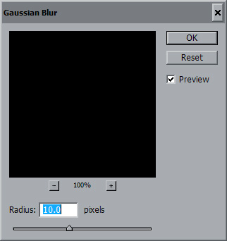 <strong>Blur the middle layer</strong>  Select the middle layer (layer 1) by left clicking it, then select Filter...Blur...Gaussian Blur - 10 usually works pretty good.  If you only added a border to the second layer you may want to skip this step.