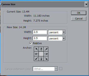 <strong>Add more canvas</strong>  Select this layer (left click on it). Add additional canvas to the image by selecting from the menu - Image...Canvas Size... add 2.5% Canvas to both width and height.