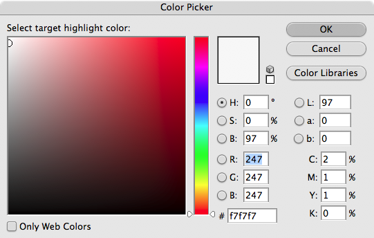 Now we're going to set the white point. <br /> <br /> Create another adjustment layer for the white point. Remember, Layer>New Adjustment Layer>Curves.<br /> <br /> When the curves dialog opens, double-click on the white eyedropper, and set the values for white at R247G247B247.