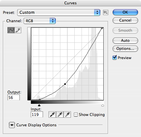 Here's the curves move that I made for the background of this image.