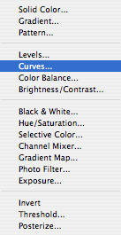 "...and select ""Curves...""."
