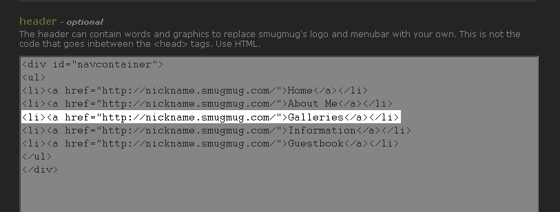 I NEED MORE LINKS  No problem! just add another one of those lines, starting with <code>< li ></code> and ending with <code>< /li ></code>  You can also remove a link the same way