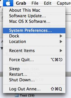 """Select """"System Preferences"""" from your Apple menu."""