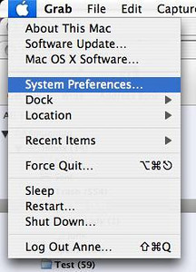 "Select ""System Preferences"" from your Apple menu."