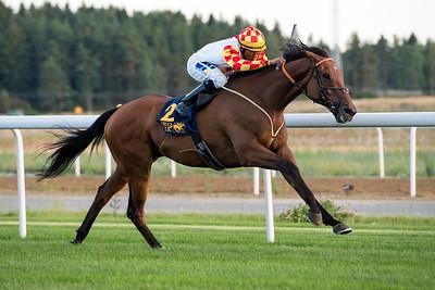 Coprah vinner med Nelson De Souza | Bro Park 160802 | Foto: Elina Björklund / Svensk Galopp