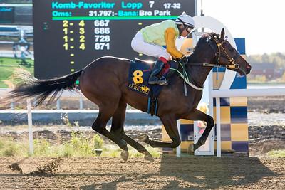 Skyhawk winner med Carlos Lopez  Bro Park 161005 Foto: Elina Björklund / Svensk Galopp