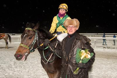 Muspelheim tillsammans med Annie Nilsson Lindahl och Peter Jardby Bro Park 161108 Foto: Elina Björklund / Svensk Galopp