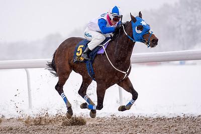 Kasbhom vinner med Fanny Olsson  Bro Park 161211  Foto: Elina Björklund / Svensk Galopp