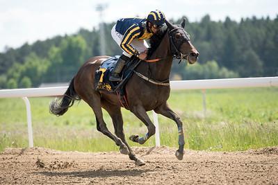 Black Redstart vinner med Elione Chaves Bro Park 170614 Foto: Elina Björklund / Svensk Galopp