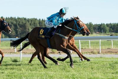 Sovell vinner med Anna Pilroth Bro Park 170619  Foto: Elina Björklund / Svensk Galopp