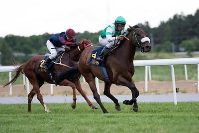 Echippus vinner med Carlos Lopez  Bro Park 170627 Foto: Elina Björklund / Svensk Galopp