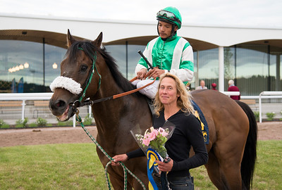 Echippus tillsammans med Carlos Lopez och Ylva Brandt  Bro Park 170627 Foto: Elina Björklund / Svensk Galopp