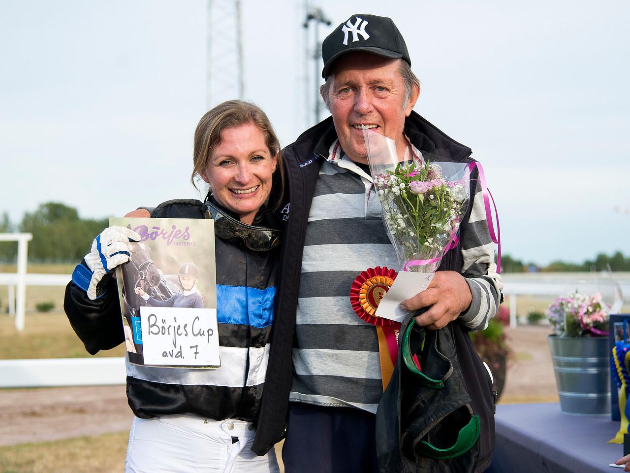 Louise Pettersson och Rein Kuningas Bro Park 170724 Foto: Elina Björklund / Svensk Galopp