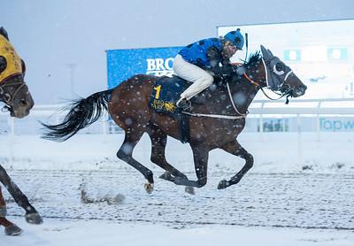 Arabianranta vinner med Alina Öhgren. Bro Park 210110 Foto: Elina Björklund / Svensk Galopp