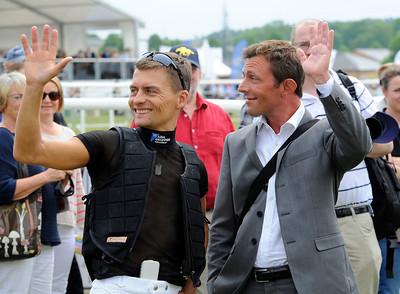 Två svenska championjockeys: Per-Anders Gråberg och Fredrik Johansson | Gärdet 140606 |  Foto: Stefan Olsson / Svensk Galopp