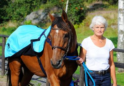 Berthram och Birgitta Paulsson | Göteborg Galopp 110820  Foto: Stefan Olsson / Svensk Galopp