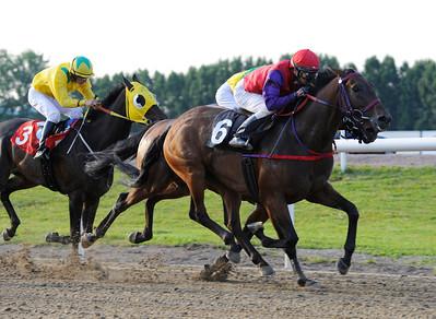 Johnny Ola vinner med Manuel Martinez | Jägersro 110716  Foto: Stefan Olsson / Svensk Galopp