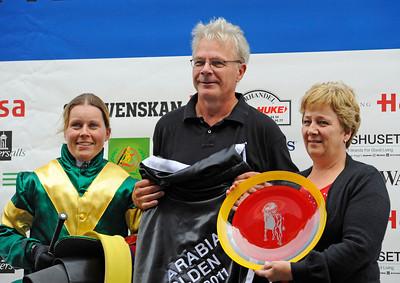 Cathrine Weilby, Roland och Kerstin Ask | Jägersro 110814  Foto: Stefan Olsson / Svensk Galopp