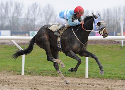Matauri Pearl vinner med Valmir de Azeredo | Jägersro 120425 |  Foto: Stefan Olsson / Svensk Galopp