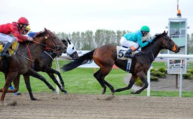 Chips O'Toole vinner med Martin Rodriguez | Jägersro 120515 |  Foto: Stefan Olsson / Svensk Galopp
