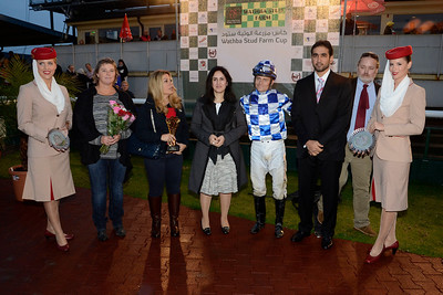 Prisutdelning i Wathba International Stud Farm International Arabian Sprint | Jägersro 120927 |  Foto: Stefan Olsson / Svensk Galopp