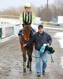 Bowater tillsammans med Annelie Hollstenius och Jan-Erik Pettersson | Jägersro 121205 | Foto: Stefan Olsson / Svensk Galopp
