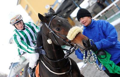 Runsonrun tillsammans med Max W Friberg och Gisela Jardby | Jägersro 121205 | Foto: Stefan Olsson / Svensk Galopp