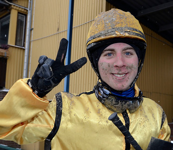 Dennis Ganz Andersson tog sin första seger  | Jägersro 121205 | Foto: Stefan Olsson / Svensk Galopp