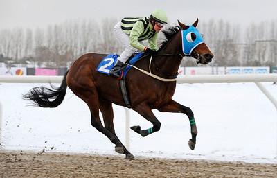 Bowater vinner lätt under Annelie Hollstenius | Jägersro 121205 | Foto: Stefan Olsson / Svensk Galopp