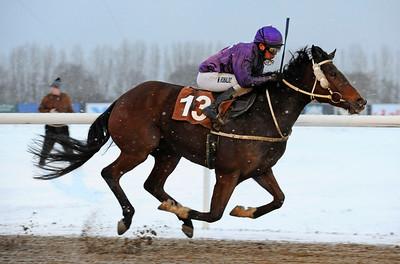 Montgomery vinner med Marcos Robaldo  | Jägersro 121205 | Foto: Stefan Olsson / Svensk Galopp