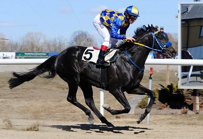Mr Limpopo vinner med Shane Karlsson   Jägersro 130403   Foto: Stefan Olsson / Svensk Galopp
