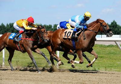 Lions Prospect vinner med Martin Rodriguez | Jägersro 140723 | Foto: Stefan Olsson / Svensk Galopp