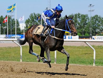 Double Cat vinner med Fredrik Janetzky | Jägersro 160525 | Foto: Stefan Olsson / Svensk Galopp