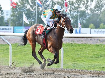 Well Tried vinner med Andreas Tapia Dalbark  Jägersro 170523 Foto: Stefan Olsson / Svensk Galopp