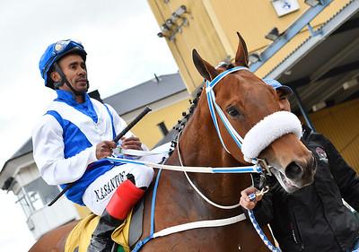Free Ride och Alexandre Dos Santos   Jägersro 170531 Foto: Stefan Olsson / Svensk Galopp