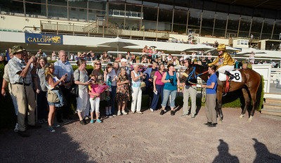 Street Band i vinnarcirkeln | Täby 110709 Foto: Stefan Olsson / Svensk Galopp