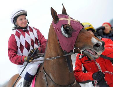 Cardiff Boy och Fanny Olsson   Täby Galopp 111221    Foto: Stefan Olsson / Svensk Galopp