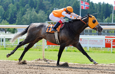 Luckyreno vinner med Shane Karlsson | Täby 120701 |  Foto: Stefan Olsson / Svensk Galopp