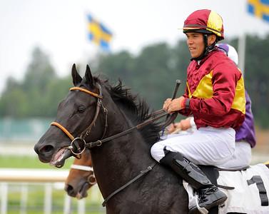 Smartinblack och Marcos Robaldo | Täby 120828 |  Foto: Stefan Olsson / Svensk Galopp