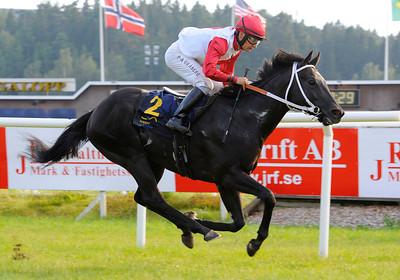 Uppercut Action vinner med Per-Anders Gråberg | NORDIC CHAMPION SERIES - SPRINT | Täby 120728 |  Foto: Stefan Olsson / Svensk Galopp