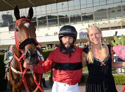 Ailsa Carmel tillsammans med Musse Hasselvall och Sandra Brolin. | Täby 130709 |  Foto: Stefan Olsson / Svensk Galopp