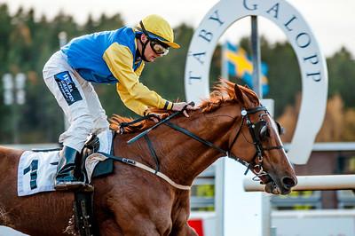 Manchester vinner med Per-Anders Gråberg.   Täby 131027   Foto: Elina Björklund / Svensk Galopp