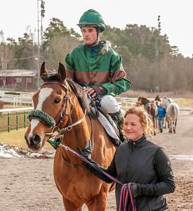 Weald och Dayverson De Barros | Täby 140223 | Foto: Elina Björklund / Svensk Galopp