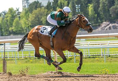 Weald vinner med Aase Marie Brown | Täby 140518 | Foto: Elina Björklund / Svensk Galopp