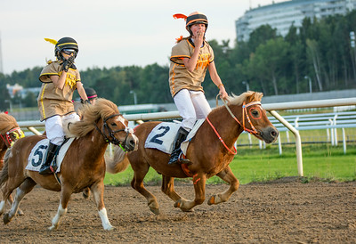 Cowboys & indians, shetlandsgalopp | Täby 140721 | Foto: Elina Björklund / Svensk Galopp