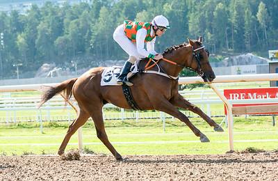 Glad Bear vinner under Jacob Johansen | Täby 140903 | Foto: Elina Björklund / Svensk Galopp