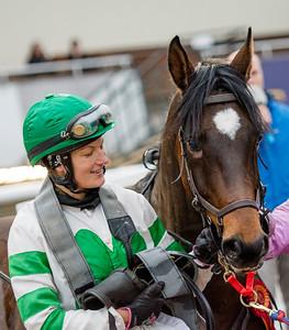 Ghallab och Jessica Jankerup | Täby 141116 | Foto: Elina Björklund / Svensk Galopp