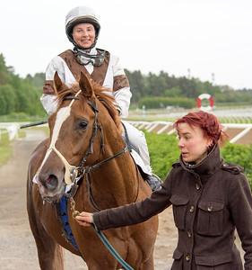 Mecado och Rebecca Colldin | Täby 150602 | Foto: Elina Björklund / Svensk Galopp