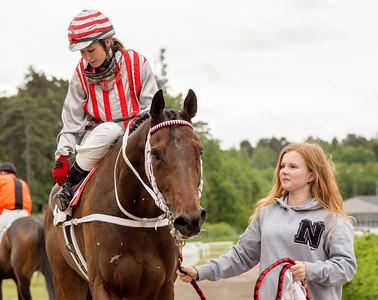 Aboule Le Fric och Fabienne De Geer | Täby 150602 | Foto: Elina Björklund / Svensk Galopp