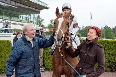 Mecado och Rebecca Colldin tillsammans med Claes Björling | Täby 150602 | Foto: Elina Björklund / Svensk Galopp